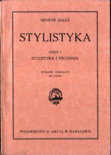 Galle Stylistyka Literatura polska nar0013
