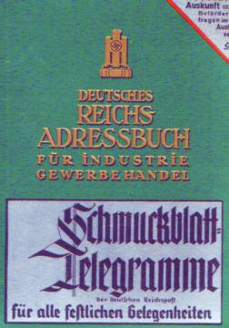 Deutsches Reichs-Adressbuch Reichs Adressbuch Książka adresowa Adres Germany Niemcy 1940 Address Adress Directories Directory 20185521 21219008 33213480 nbs1059