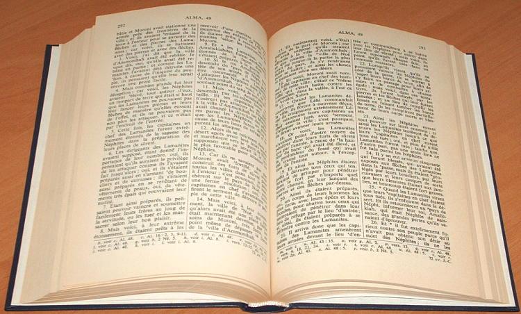 Smith-Joseph-Le-livre-de-Mormon-Ksiega-Mormonow-recit-ecrit-sur-plaques-de-la-main-de-Mormon-Torcy-France-1990