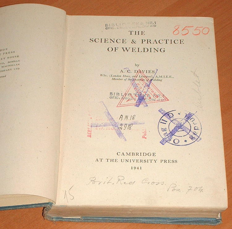 Davies-A-C-The-Science-and-Practice-of-Welding-Cambridge-University-Press-1941-spawanie-spawacz-spaw-Oflag-II-D