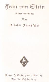Janetschek Frau von Stein Goethe Charlotte Weimar Willi Mundt Neustettin Kulmer-Str Szczecinek 10568176 odd1085