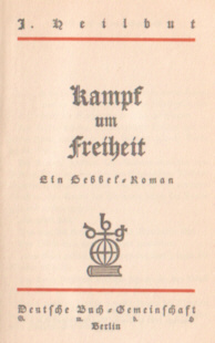 Heilbut Kampf um Freiheit Hebbel Boehm Reising jüdische Familie Zydzi Jews Judaica Jewish odd2069