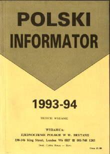 emigracja Londyn polonia polacy Anglia Polski Informator 1993 1994 London 34096631 ode2012