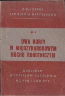 partia PPR PPS Polska Partia Robotnicza Socjalistyczna szkolenie odg4094