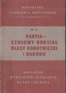 partia PPR PPS Polska Partia Robotnicza Socjalistyczna szkolenie odg4095