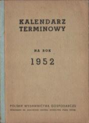 Kalendarz 1952 kalendarium odk3080
