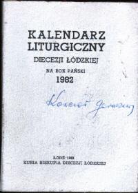 liturgia kalendarz duchowieństwo msza sakrament święto Kalendarz liturgiczny Diecezji Łódzkiej 1982 kościół katolicka katolicki odk4001