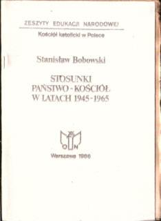 Bobowski Kądziela Stosunki państwo kościół katolicki owa0037