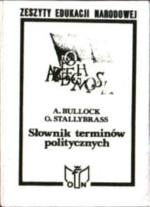 Bullock Stallybrass Słownik terminów politycznych polityka Wyrwa Janowski Wysocka The Fontana dictionary of modern thought owb0016