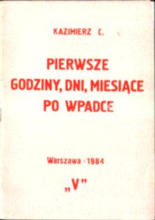 Kazimierz Pierwsze godziny dni miesiące po wpadce stan wojenny areszt śledztwo przesłuchanie aresztowanie owb0020