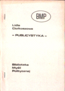 Ciołkoszowa Ciołkosz Publicystyka Literatura polska na obczyźnie emigracja owb0028