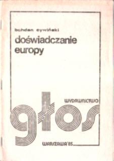 Cywiński Doświadczanie Europy Europa polityka owb0035