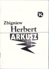 Herbert Arkusz wiersze poezja owc0051
