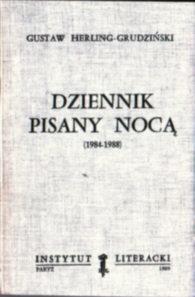 Herling Grudziński Dziennik pisany nocą 1984 1988 1985 1986 1987 2-7168-0121-5 2716801215 owc0052