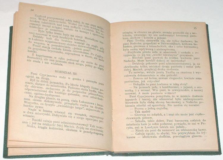 MARION-Na-Wolce-Powiesc-z-roku-1905-Bibljoteka-Domu-Polskiego-1927-Cecylia-Glucksman-Gluecksman