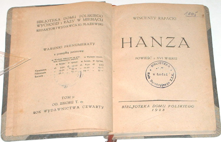 Rapacki-Wincenty-Hanza-Powiesc-z-XVI-XV-wieku-Bibljoteka-Domu-Polskiego-1928-t-32-t-131