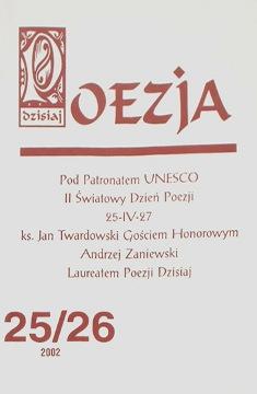 Nawrocki Poezja Dzisiaj 2002 25/26 wiersze Leszno Siedlce 25 26 waa0040