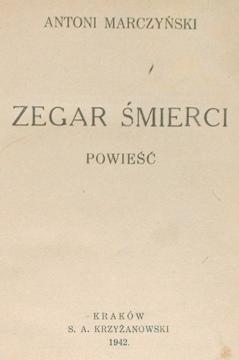 Marczyński Marczynski Zegar śmierci smierci Raczyński Raczynski waa0070