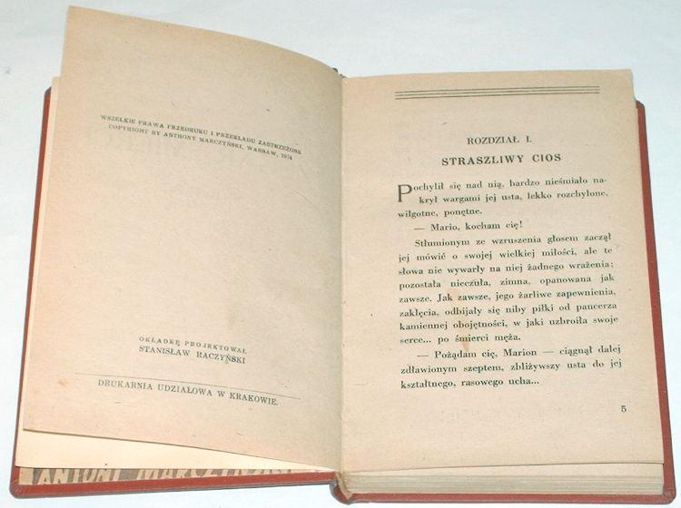 Marczynski-Antoni-Zegar-smierci-Powiesc-Trzecie-wyd-Krakow-SA-Krzyzanowski-1942-okupacja-niemiecka-II-wojna-swiatowa