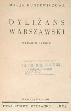 Kuncewiczowa Kuncewicz Dyliżans warszawski Dylizans waa0074