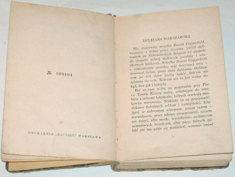 Kuncewiczowa-Maria-Dylizans-warszawski-Wyd-drugie-Warszawa-Towarzystwo-Wydawnicze-Roj-1938-Felietony-Gazeta-Polska