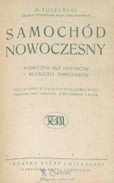 Tuszyński Samochód nowoczesny Tuszynski Samochod auto kierowca car cars Automobiles 1922 Czarliński Wojtanowski waa0075