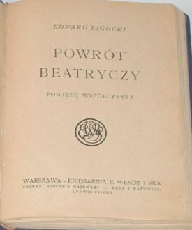 Ligocki Powrót Beatrycze 69355304 antysemityzm waa0118