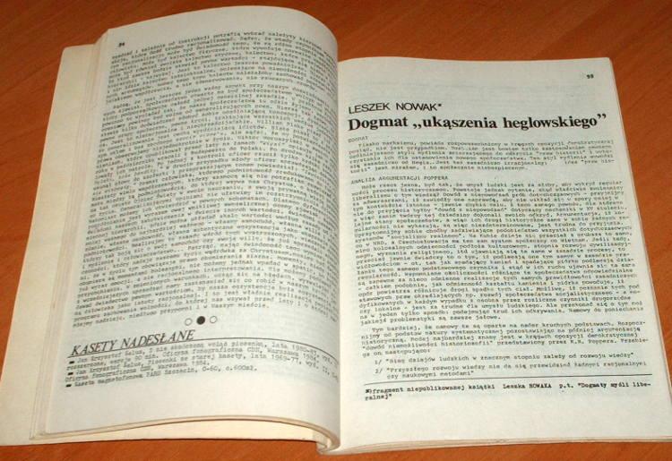 Obecnosc-Niezalezne-pismo-literackie-Nr-13-Wiosna-1986-Czasopismo-podziemne-Wroclaw-Aspekt-Baranczak-Laszcz