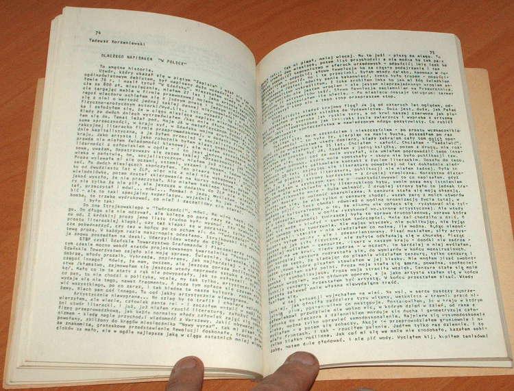 Zapis-Poezja-Proza-Eseje-Nr-6-Kwiecien-1978-Czasopismo-podziemne-Nowa-Kisielewski-Ficowski-Wierzbicki