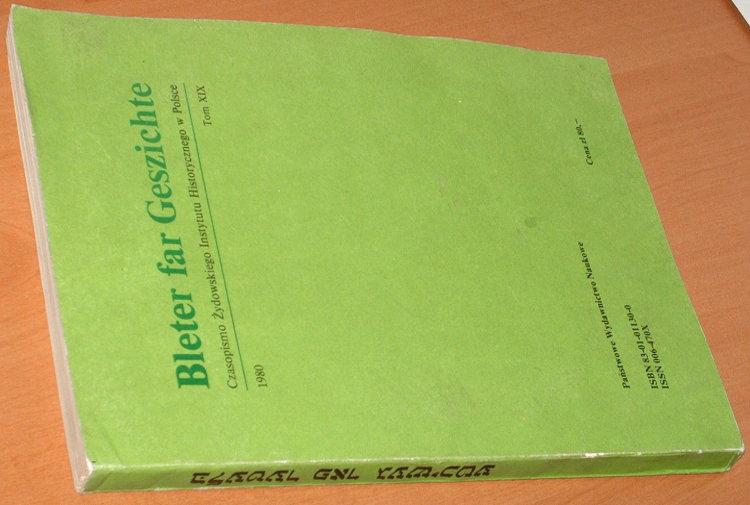 Bleter-far-Geszichte-Rocznik-Bleter-far-Geshikhte-Tsaytshrift-fun-Yidishn-Historishn-Institut-in-Poyln-Tom-XIX-1980