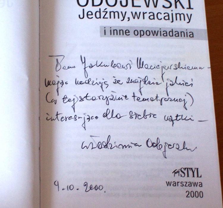 Odojewski-Wlodzimierz-Jedzmy-wracajmy-Warszawa-Twoj-Styl-2000-opowiadania