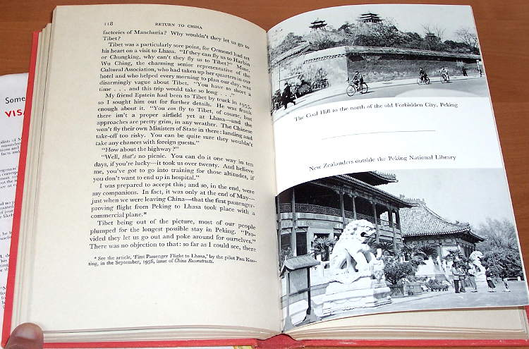 Bertram-James-Return-to-China-London-Heinemann-1957-Description-travel-Chine-Opinions