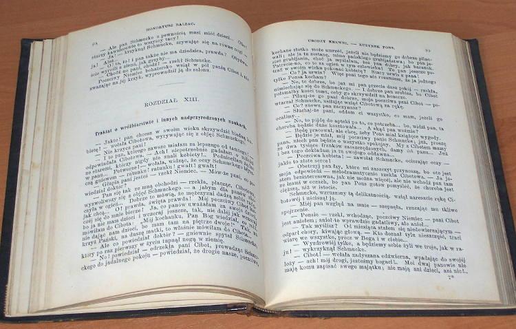 Balzac-Honoryusz-Honore-Komedya-ludzka-IV-Ubodzy-krewni-II-Kuzynek-Pons-Warszawa-Lewental-1883-Przekl-Prazmowskiej