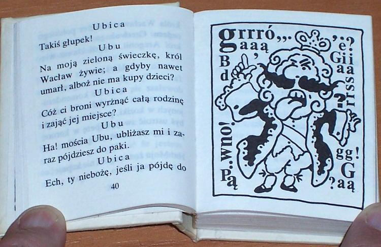 Jarry-Alfred-Ubu-krol-czyli-Polacy-przel-Zelenski-Boy-Stanny-Toeplitz-WAiF-1989-Bibliofilska-Edycja-Miniatur