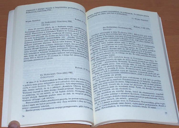 Radomski-czerwiec-1976-Cz-1-Doniesienie-o-przestepstwie-Lublin-Norbertinum-1991-Komisja-Rehabilitacji-Solidarnosc