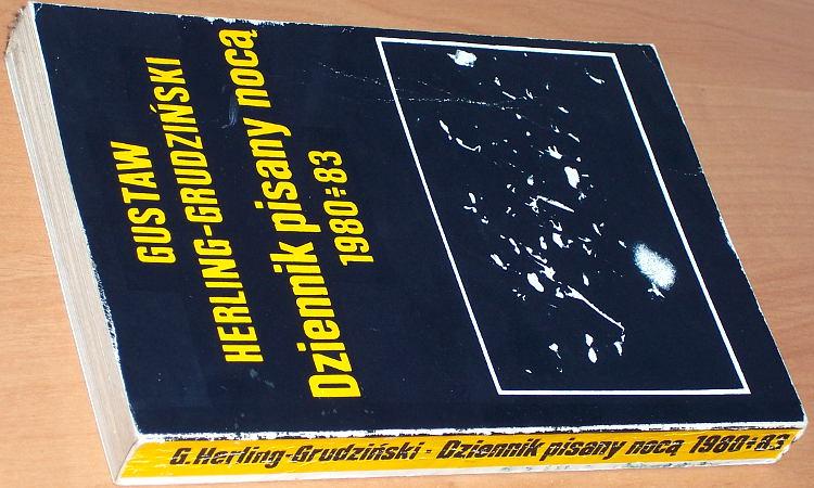Herling-Grudzinski-Gustaw-Dziennik-pisany-noca-1980-1983-Warszawa-Brama-1989-1990