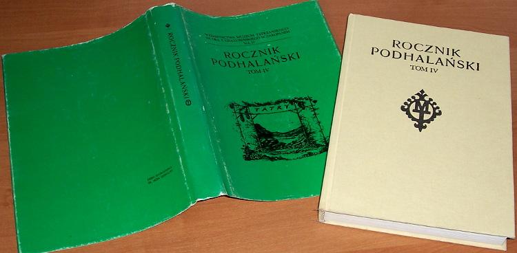 Rocznik-Podhalanski-Tom-IV-Krakow-Zakopane-Wyd-Literackie-Muzeum-Tatrzanskie-1987-Tatry-Podhale-gorale