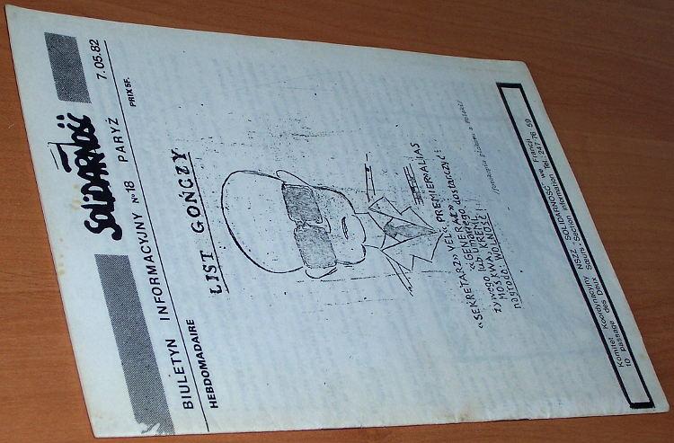 Biuletyn-Informacyjny-Solidarnosc-nr-18--7-05-82-Paryz-Komitet-Koordynacyjny-NSZZ-Solidarnosc-we-Francji-1982