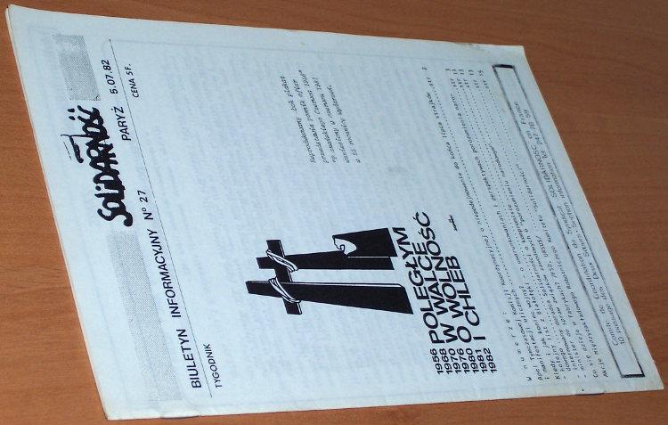 Biuletyn-Informacyjny-Solidarnosc-nr-27--5-07-82-Paryz-Komitet-Koordynacyjny-NSZZ-Solidarnosc-we-Francji-1982