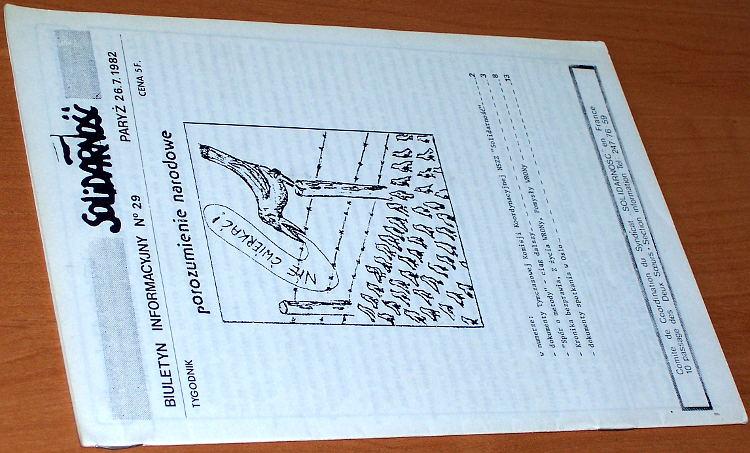 Biuletyn-Informacyjny-Solidarnosc-nr-29--26-7-1982-Paryz-Komitet-Koordynacyjny-NSZZ-Solidarnosc-we-Francji-1982
