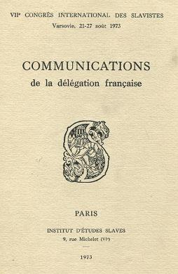 Communications de la délégation française delegation francaise Congres Internationale des Slavistes archaizm podhalański Podhale Étienne Decaux waa0517