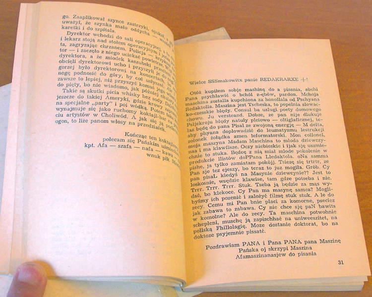 Afanasjew-Jerzy-Poczta-Afanasjewa-Gdansk-Wydawnictwo-Morskie-1979-wybor-wstep-Lipinski-satyra-rysunek-Wisniak