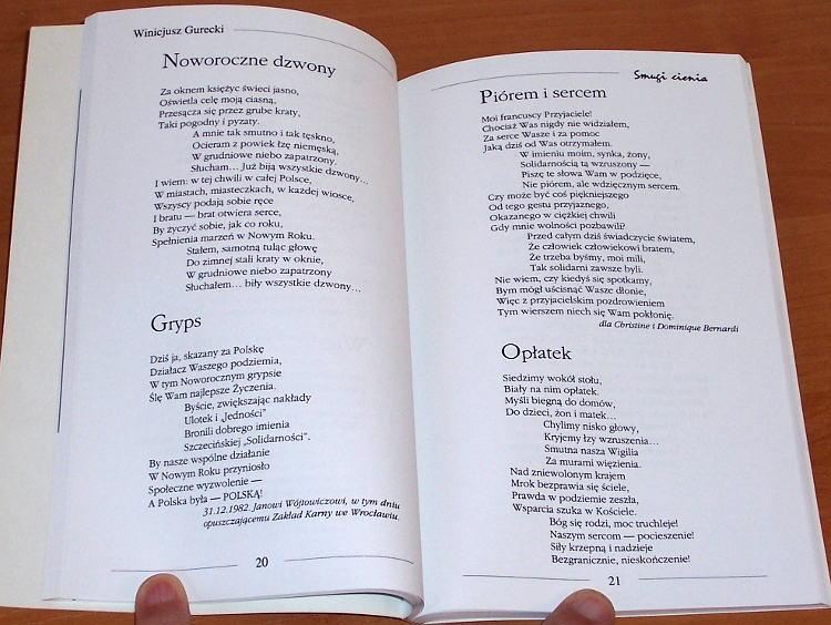 Gurecki-Winicjusz-Smugi-cienia-Zbior-wierszy-Toronto-Wydawnictwo-Habdank-Communications-1995-Solidarnosc-Szczecin