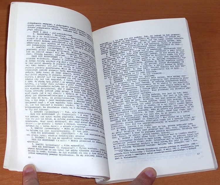 Krajowa-Komisja-Porozumiewawcza-NSZZ-Solidarnosc-Posiedzenie-2-3-IX-1981-Warszawa-Wydawnictwo-PoMOST-1988-Solidarity
