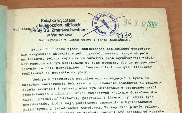 Pokora-Wojciech-Nauczyciele-w-ruchu-oporu-i-tajne-nauczanie-Warszawa-ZBoWiD-1968