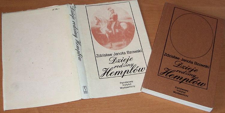 Janota-Bzowski-Zdzislaw-Dzieje-rodziny-Hemplow-Warszawa-PIW-1987-Hempel-Kolodziejczyk