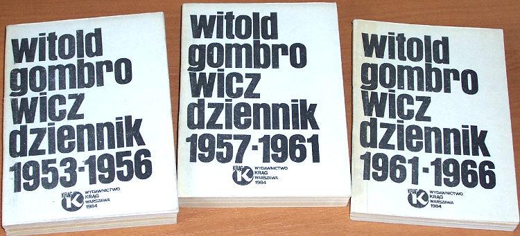 Gombrowicz-Witold-Dziennik-1953-1956-1957-1961-1961-1966-Warszawa-Wydawnictwo-Krag-1984-bibula-wydanie-podziemne