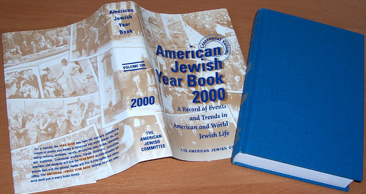Singer-Grossman-ed-American-Jewish-year-book-2000-Vol-100-New-York-American-Jewish-Committee
