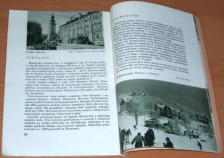 Orlowicz-Mieczyslaw-Sudety-Warszawa-Nasza-Ksiegarnia-1949-Biblioteka-Polskiego-Towarzystwa-Krajoznawczego-Piekno-Polski