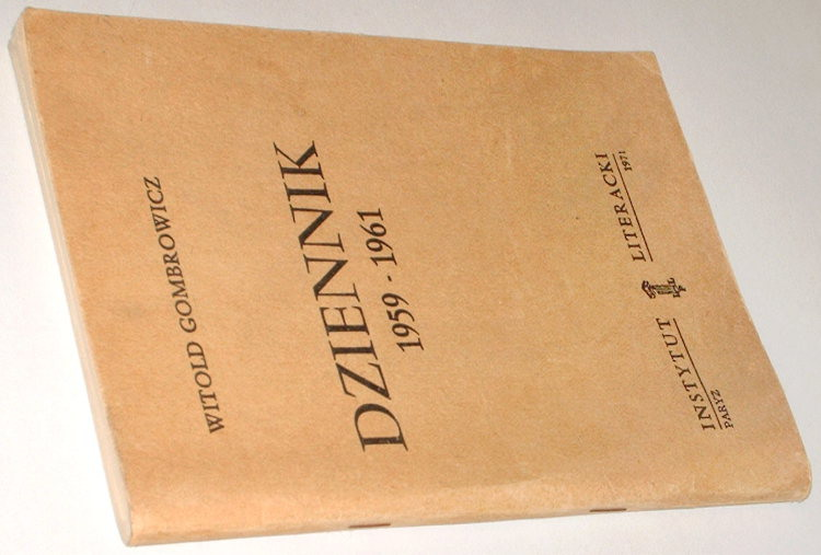 Gombrowicz-Witold-Dziennik-1959-1961-Bibula-Wydanie-bezdebitowe-podziemne-drugoobiegowe-Klin-1980